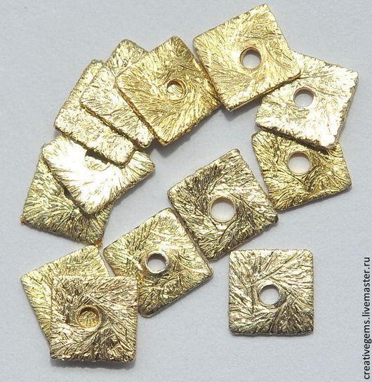 Шайбы из серебра 925 пробы, позолоченные; для создания украшений своими руками;