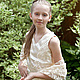 Одежда для девочек, ручной работы. Ярмарка Мастеров - ручная работа. Купить платье для торжественных мероприятий. Handmade. Бежевый, кружево