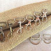 Фурнитура для сумок ручной работы. Ярмарка Мастеров - ручная работа Карабины, 6 видов. Handmade.