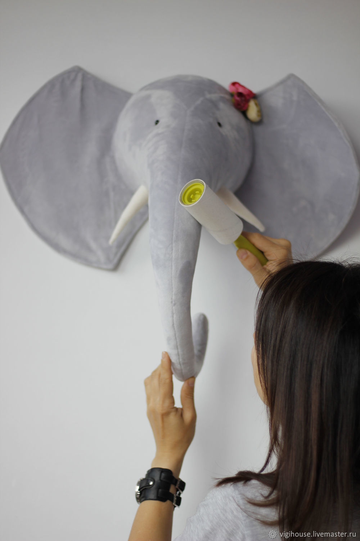 Детская ручной работы. Ярмарка Мастеров - ручная работа. Купить Трофей голова слона. Handmade. Слон, слоник, декор интерьера