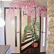 Для дома и интерьера handmade. Livemaster - original item 3D vinyl wall Sticker-Sakura. Handmade.