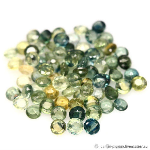 A set of sapphires, Cabochons, Pyatigorsk,  Фото №1