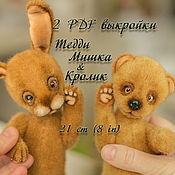 Материалы для творчества handmade. Livemaster - original item Pattern Teddy Bear and Teddy Rabbit 2 patterns at a reduced price!. Handmade.