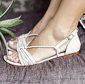 Обувь ручной работы handmade. Livemaster - original item Blooming Day, strappy sandals with woven straps. Handmade.