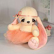 Куклы и игрушки ручной работы. Ярмарка Мастеров - ручная работа Тедди Зайка Персиковая. Handmade.
