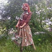 Одежда ручной работы. Ярмарка Мастеров - ручная работа Простая юбочка для любительниц моды 40-х годов и не только. Handmade.