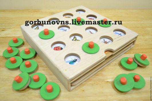 Развивающие игрушки ручной работы. Ярмарка Мастеров - ручная работа. Купить МЕМОРИ - игра на развитие памяти и логического мышления. Handmade.