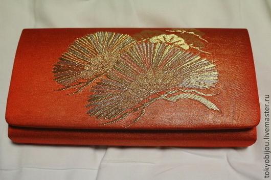 клатч, сумочка, вечерняя сумочка, сумочка для леди, японская сумочка, сумочка в подарок, клатч япония, японские подарки, театральная сумочка, сумочка на выход, винтаж, шелковая сумочка, парча, сосна,