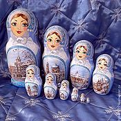 Русский стиль handmade. Livemaster - original item Matryoshka 10 Winter Barnaul. Handmade.