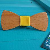 Аксессуары ручной работы. Ярмарка Мастеров - ручная работа Деревянная галстук бабочка Sunny / свадьба в желтом, бабочка жениха. Handmade.