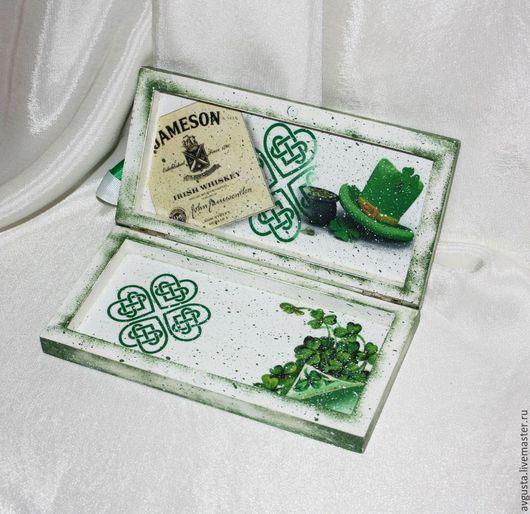 Кухня ручной работы. Ярмарка Мастеров - ручная работа. Купить Банкнотница в подарок на свадьбу в ирландском (кельтском) стиле. Handmade. ирландия