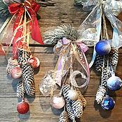 Подарки к праздникам ручной работы. Ярмарка Мастеров - ручная работа Новогодняя гроздь. Handmade.