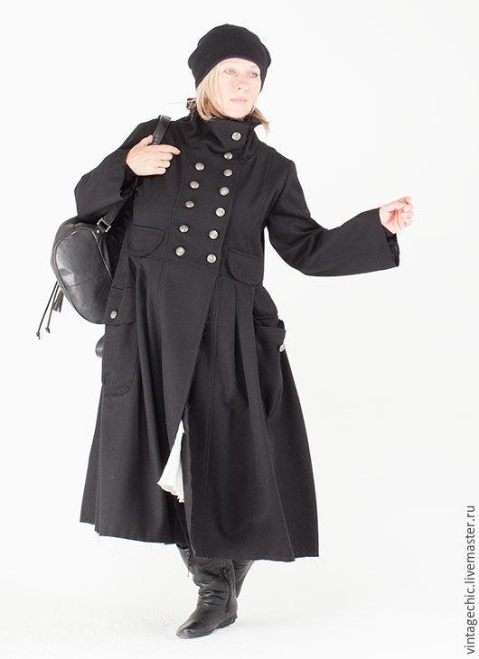 Верхняя одежда ручной работы. Ярмарка Мастеров - ручная работа. Купить Пальто бохо теплое art.157a. Handmade. Однотонный