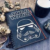Канцелярские товары handmade. Livemaster - original item Star wars Stormtrooper Wooden Notepad / Sketchbook. Handmade.