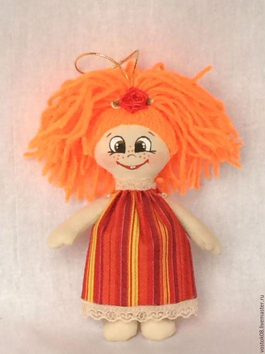 Человечки ручной работы. Ярмарка Мастеров - ручная работа. Купить Куколка хорошего настроения. Handmade. Оранжевый, кукла, куколка, солнечный