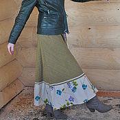 Одежда handmade. Livemaster - original item Linen skirt with Irish motifs.. Handmade.