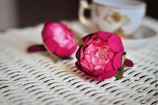 Заколки ручной работы. Ярмарка Мастеров - ручная работа. Купить Резинка для волос Розовый цветок. Handmade. Розовый, резиночки