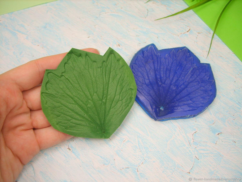 М267 Молд лист ветреницы (анемоны) реалистичный, Молды, Щелково,  Фото №1
