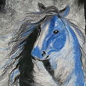 Картины и панно ручной работы. Ярмарка Мастеров - ручная работа Голубая лошадь. Handmade.