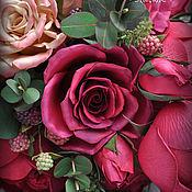 Свадебный салон handmade. Livemaster - original item The bride`s bouquet color Marsala. Handmade.