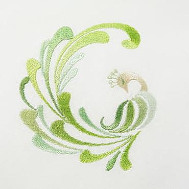 """Для дома и интерьера ручной работы. Ярмарка Мастеров - ручная работа Салфетка с вышивкой """"Павлин"""". Handmade."""