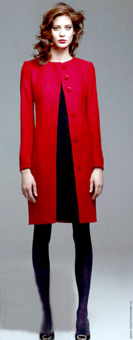 Верхняя одежда ручной работы. Ярмарка Мастеров - ручная работа. Купить Красное пальто. Handmade. Ярко-красный, красное пальто