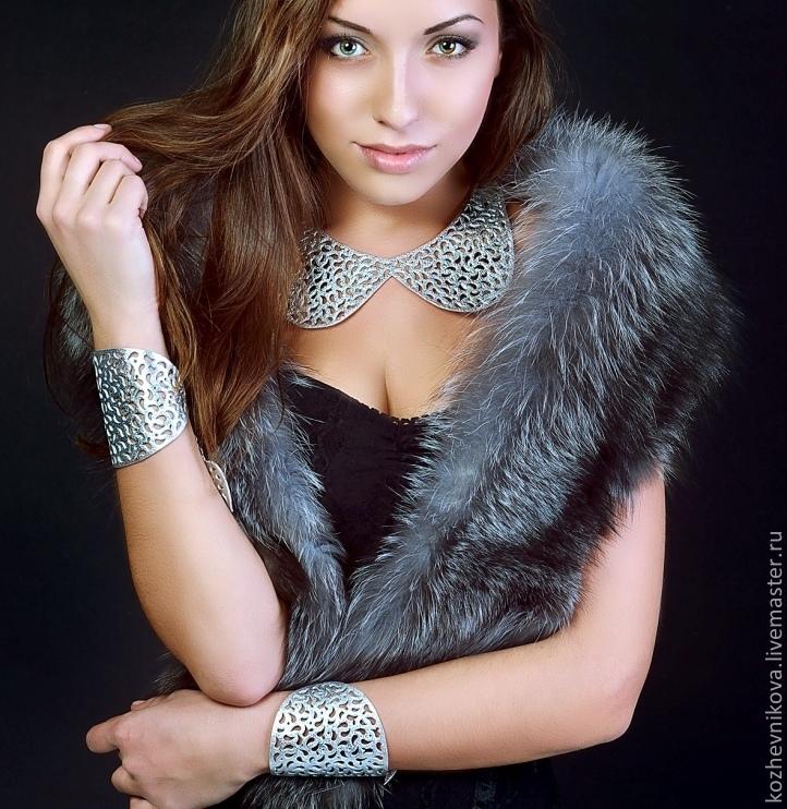 Leather set - Elena Kozhevnikova\r\photograph: Catherine Seidenberg\r\pricheska, makeup: Catherine Seidenberg\r\pmodel: Julia Tarasova