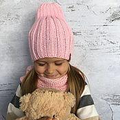 Работы для детей, handmade. Livemaster - original item Accessories kits: Pumpkin hat and Snood (children`s). Handmade.