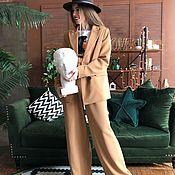 Костюмы ручной работы. Ярмарка Мастеров - ручная работа Брючный костюм с брюками палаццо. Handmade.