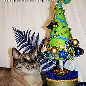 Подарки к праздникам ручной работы. Ярмарка Мастеров - ручная работа Новогодняя елочка. Handmade.