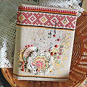 """Блокноты ручной работы. Ярмарка Мастеров - ручная работа Блокнот """"Хохлома"""". Handmade."""