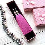 Украшения ручной работы. Ярмарка Мастеров - ручная работа Серьги-кисти Luxury Mauve Pearl розовые розово-лиловые нежные светлые. Handmade.