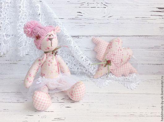 Куклы Тильды ручной работы. Ярмарка Мастеров - ручная работа. Купить Подарочный набор мишка тильда с сердцем. Handmade.