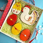 Gingerbread Cookies Set handmade. Livemaster - original item Gingerbread Easter chicken with eggs. Handmade.