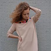 """Одежда ручной работы. Ярмарка Мастеров - ручная работа Платье """"на рубашке"""" БУКВЫ. Handmade."""