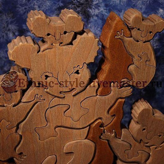 Развивающие игрушки ручной работы. Ярмарка Мастеров - ручная работа. Купить Коалы (фигурка-пазл). Handmade. Бежевый, деревянные заготовки