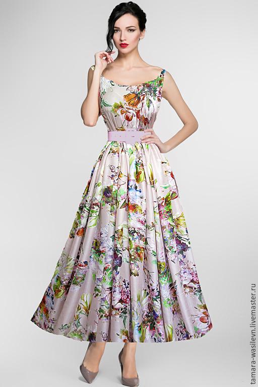 """Шитье ручной работы. Ярмарка Мастеров - ручная работа. Купить Шелк-атлас Blumarine """"Иоланта"""". Handmade. Платье, нарядное платье"""