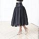 Юбки ручной работы. Ярмарка Мастеров - ручная работа. Купить Пышная юбка. Handmade. Черный, юбка, шелковая юбка