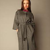Одежда ручной работы. Ярмарка Мастеров - ручная работа Пальто  демисезонное с рукавом 3/4 из кашемира. Handmade.