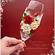 """Свадебные аксессуары ручной работы. Свадебные бокалы """"Красные розы и кружево"""" разные цвета. Кинзерская Светлана (cryptic-cards). Интернет-магазин Ярмарка Мастеров."""