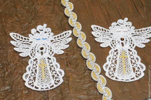 Крестильные принадлежности ручной работы. Ярмарка Мастеров - ручная работа. Купить Кружевные  Ангелочки- подарочные. Handmade. Белый, крестильное
