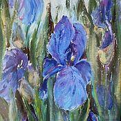 Картины и панно handmade. Livemaster - original item Blue irises. Handmade.