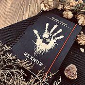 Канцелярские товары handmade. Livemaster - original item Skyrim Dark Brotherhood     Wooden Notepad / Sketchbook. Handmade.