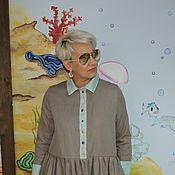 """Одежда ручной работы. Ярмарка Мастеров - ручная работа Платье.из шерсти со льном """"Какао"""". Handmade."""