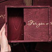 Инструменты для кукол и игрушек ручной работы. Ярмарка Мастеров - ручная работа Деревянная коробка 22х17х5 см. Handmade.