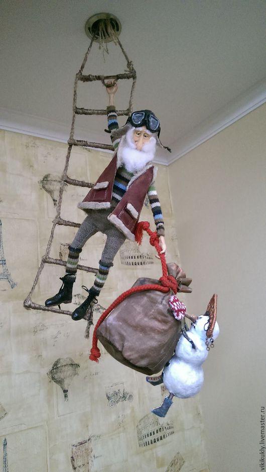 Коллекционные куклы ручной работы. Ярмарка Мастеров - ручная работа. Купить Дед Мороз & Снежная Баба. Handmade.