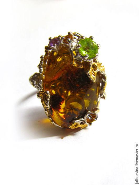 Кольца ручной работы. Ярмарка Мастеров - ручная работа. Купить Кольцо Осенний мед. Handmade. Кольцо серебро, кольцо на заказ