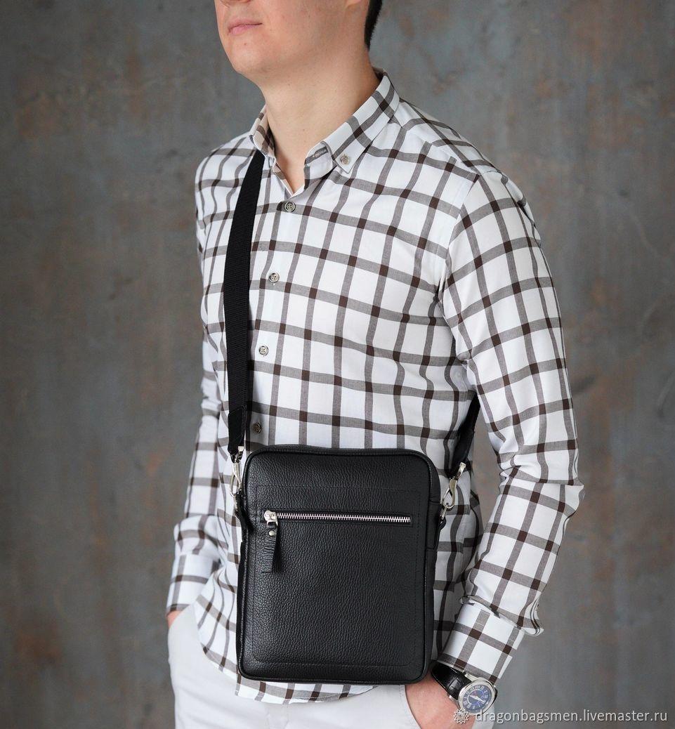 Men's shoulder bag 'Baxter' (Black), Men\'s bag, Yaroslavl,  Фото №1