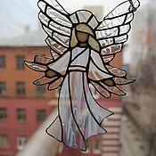 Витражи ручной работы. Ярмарка Мастеров - ручная работа Подвеска Белый ангел. Handmade.
