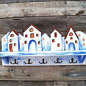 """Для дома и интерьера ручной работы. Ярмарка Мастеров - ручная работа Ключница """"Город солнца"""" ключница с полочкой. Handmade."""